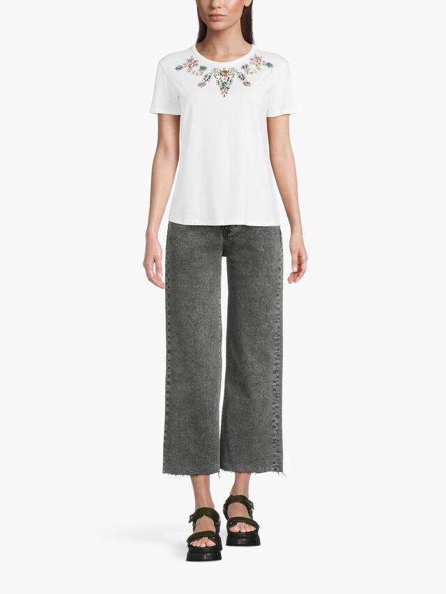 Cinzia Embellished T Shirt