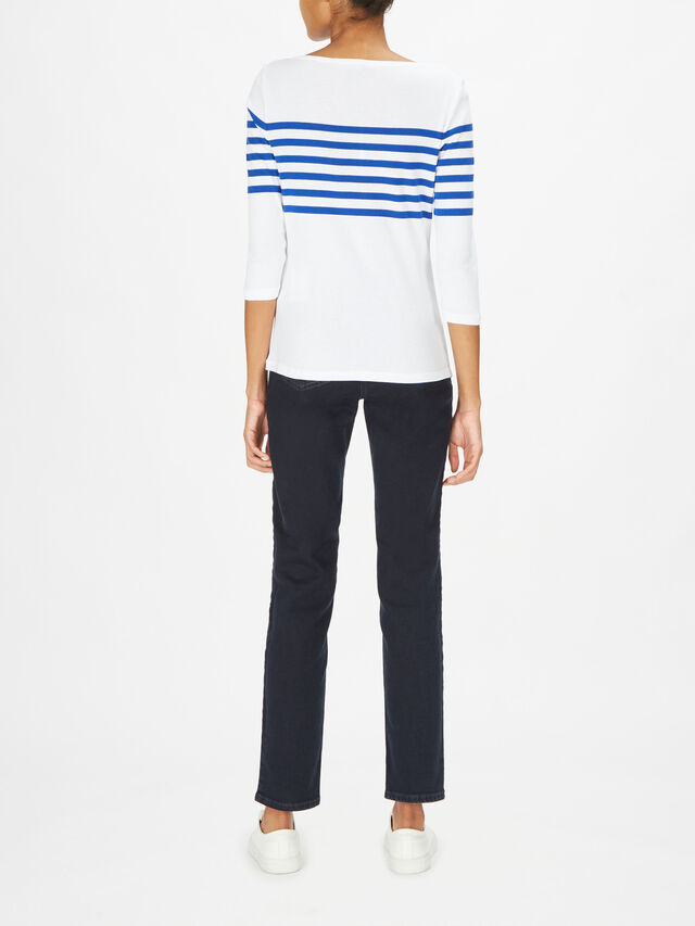 Halian Hamptons Stripe Cotton Rib Top