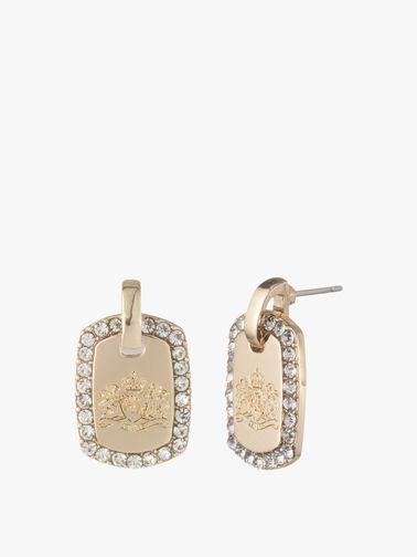 Pave Crest Drop Earrings