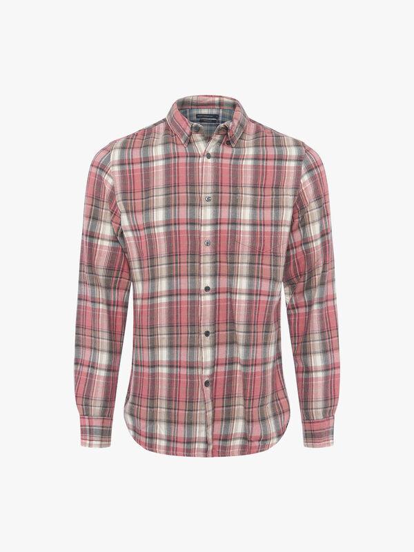 Pastel Bleach Checks Long Sleeve Shirt