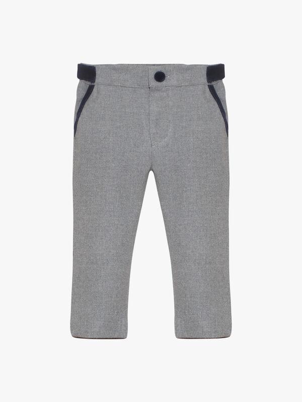 Classic Trouser With Velvet Trim