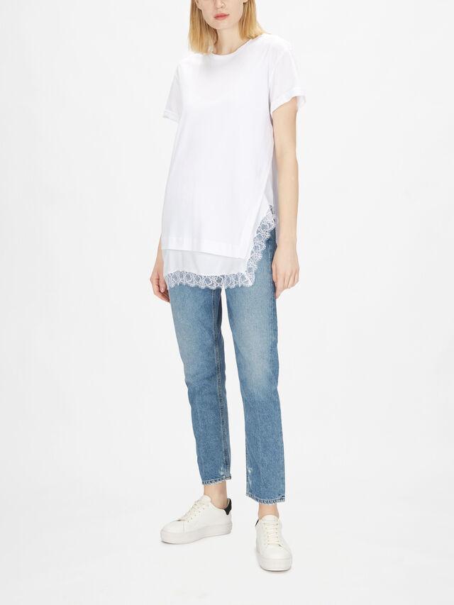 Asymmetric Length T-Shirt