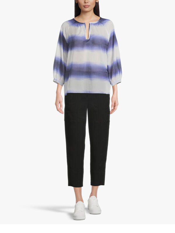 Anagni Puff Sleeve Blouse With Overlay
