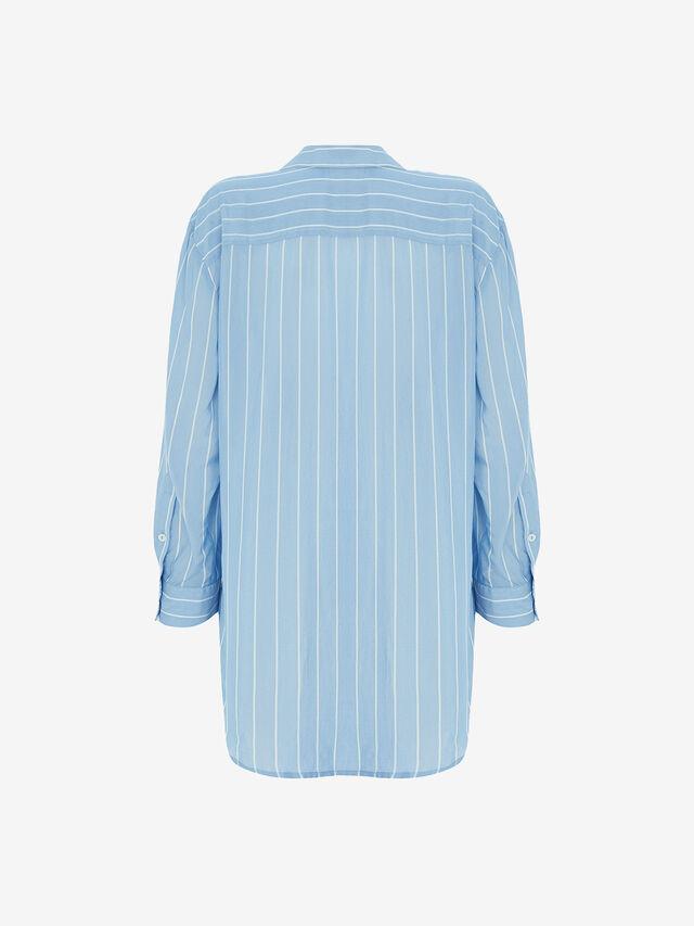 Blue Striped Oversized Shirt
