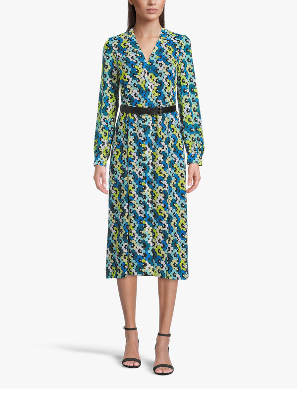 60s Floral Long Sleeve Midi Kate Dress