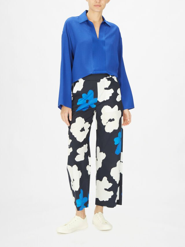 Flower Print Wide Leg Trouser
