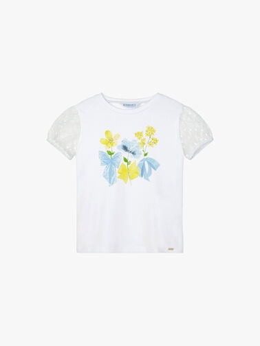 Flower-Print-and-Tulle-Sleeve-T-Shirt-3001-ss21