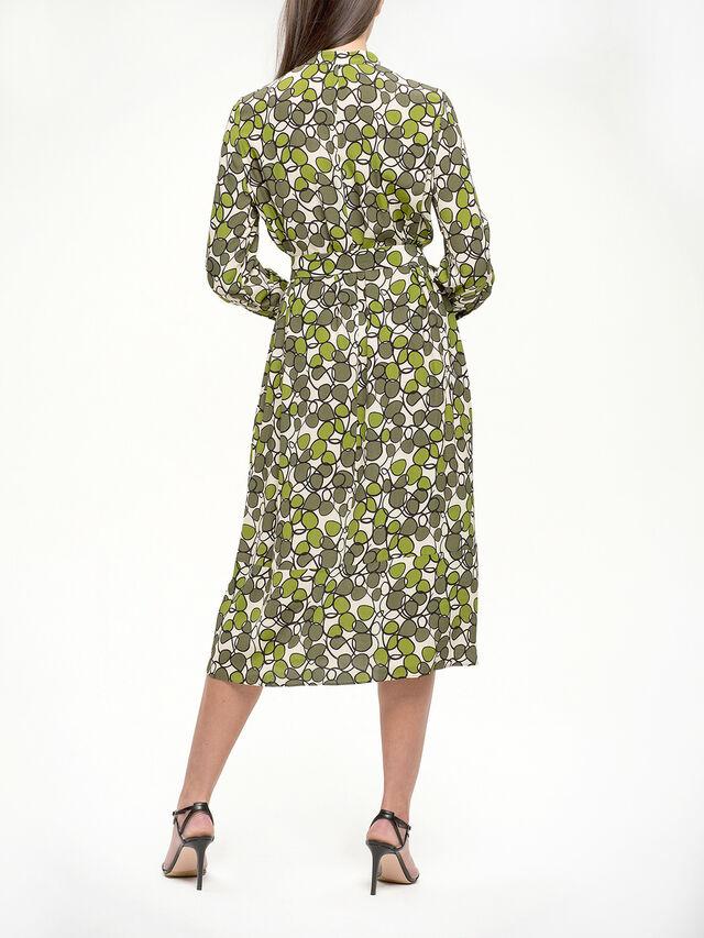 Bold Print Midi Shirt Dress