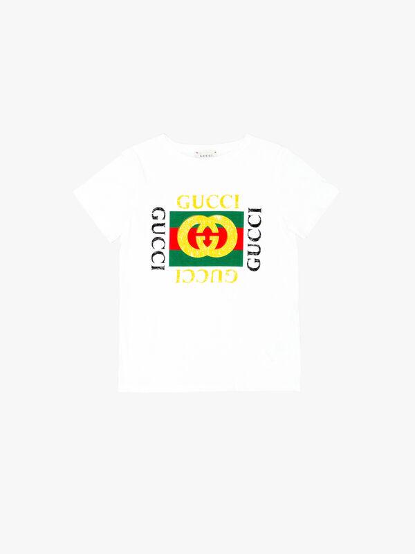 Jr Gucci Print T-Shirt