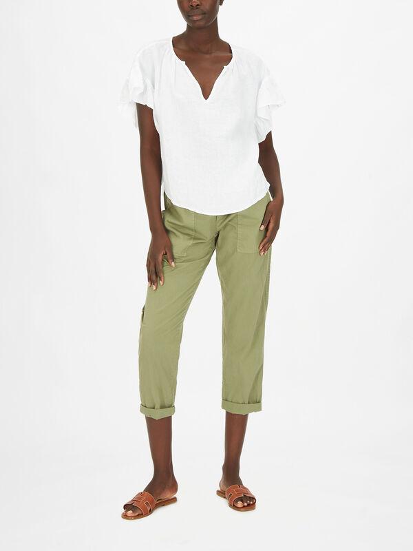 Colleen Plain Linen Top