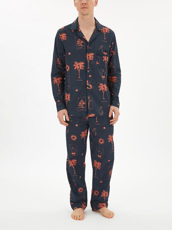 La Loteria Print Pyjama Shirt