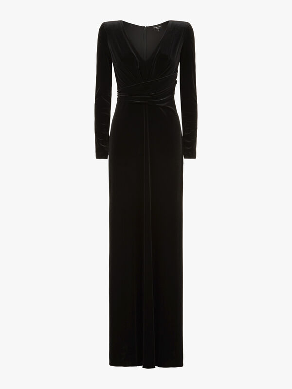 Low V-Neck Gown