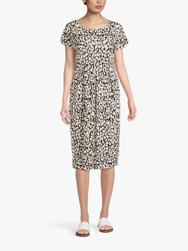 Olnia Animal Print Jersey Midi Dress