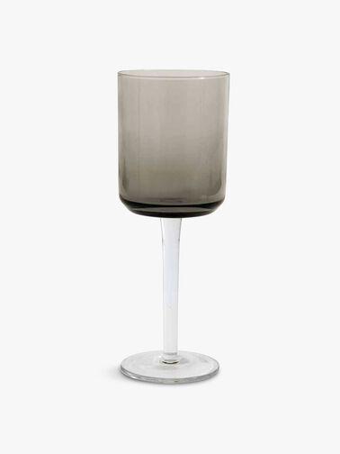 Retro Red Wine Glass