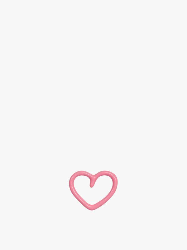 Happy Heart Enamel Stud