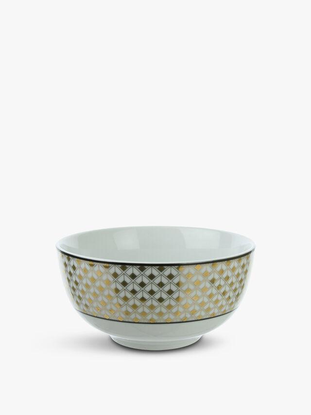 Porcelain Geo Rice Bowl