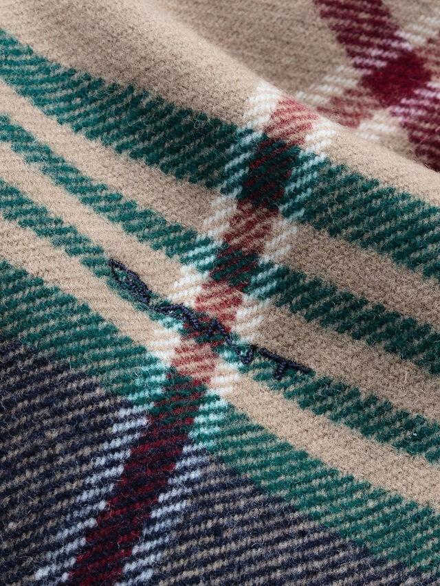 Twill Check Wool Scarf