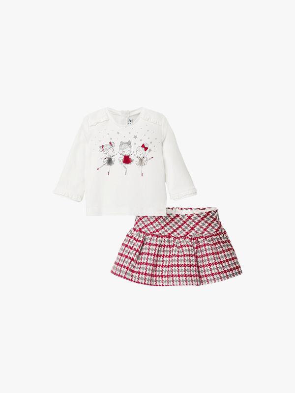 Houndstooth Skirt & Dancing Girls Top