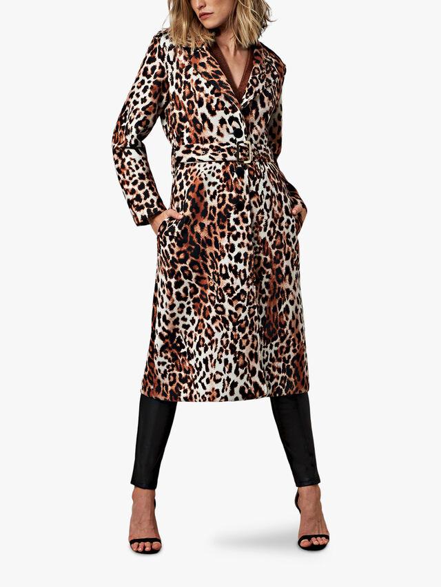 Leopard Oversized Long Coat
