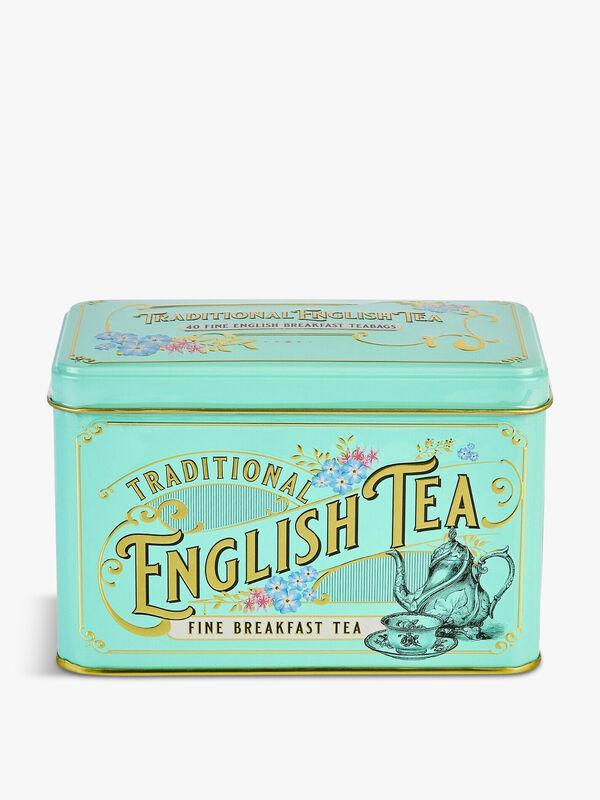 Vintage Victorian 40 English Breakfast Tea Bags Tin