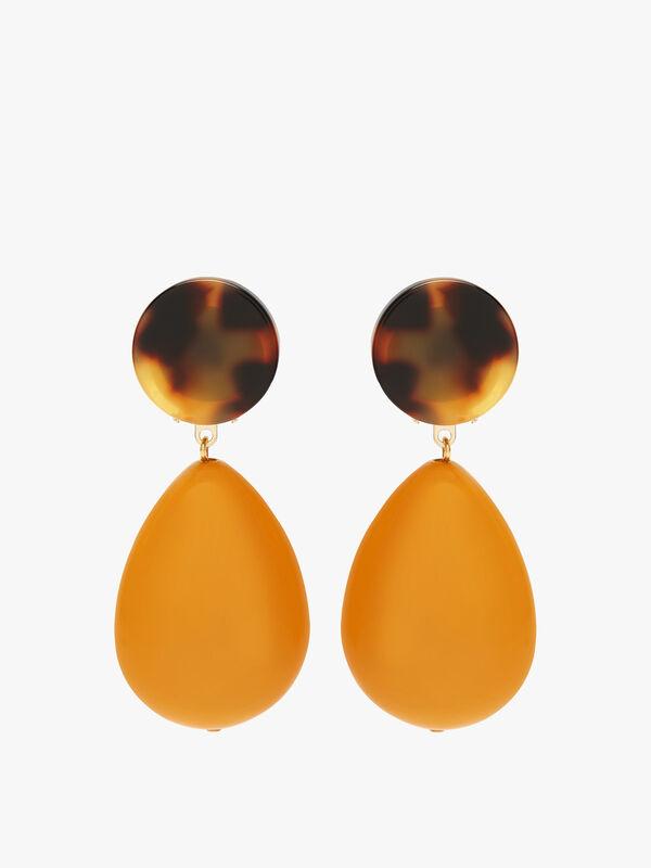 Large Circle Drop Earrings