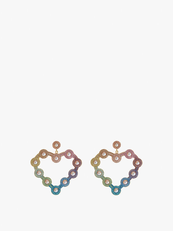 Fashion Bug Blog x Soru Rainbow Love Heart Earrings