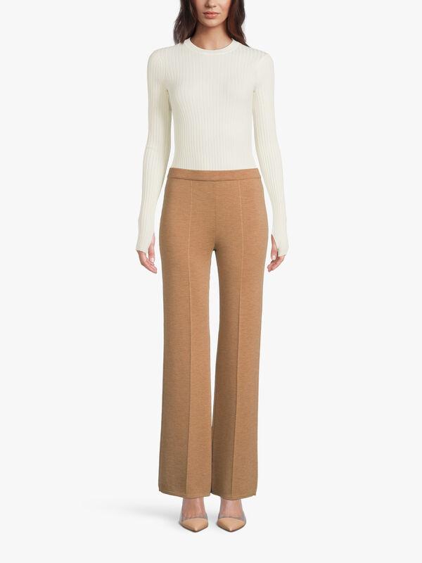 Lubiana Wide Leg Wool Trouser