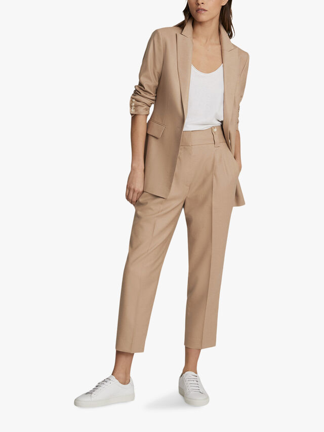 ESTHER Wool Blend Tailored Blazer