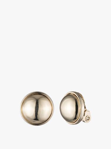 18mm Two Tone Clip On Earrings