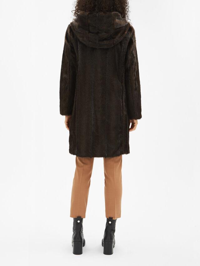 Panfilo Faux Fur Hooded Coat