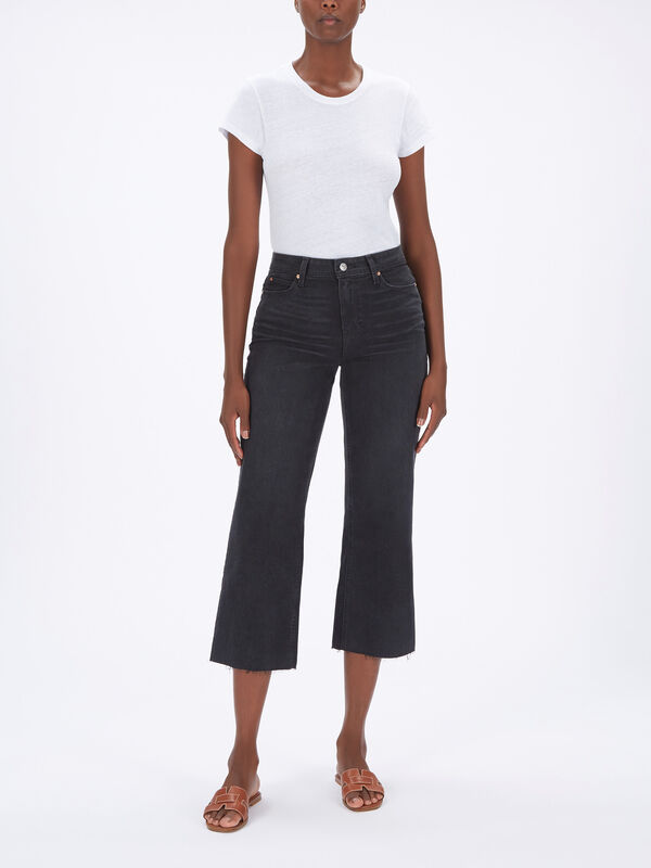 Nellie Culotte Raw Hem Jeans
