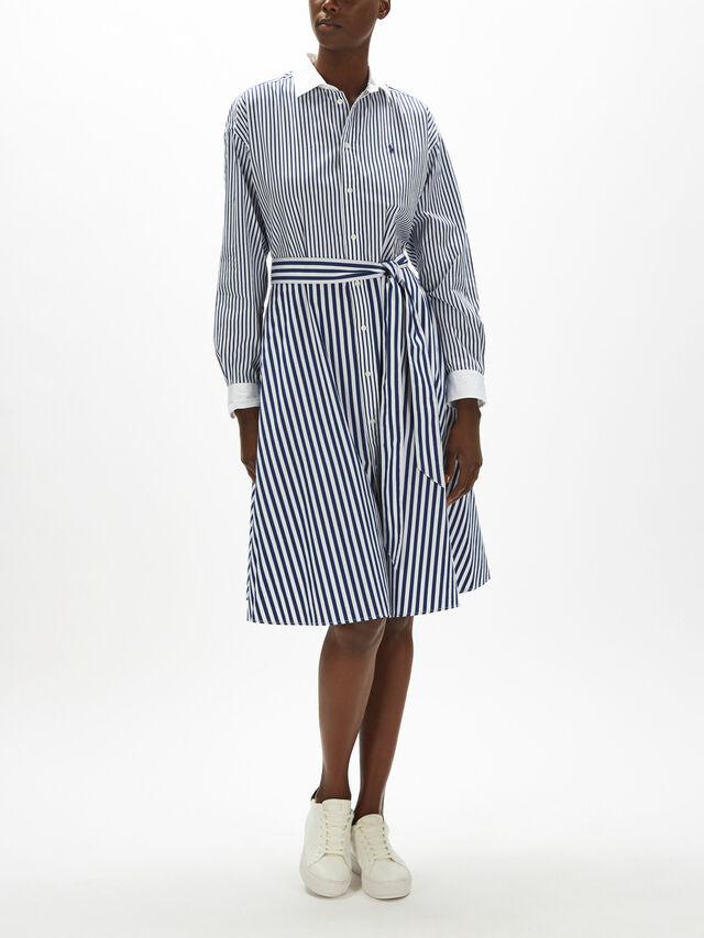 Ela Multi Stripe Shirt Dress