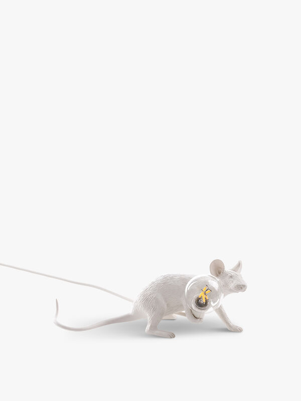 Lying Down White Mouse