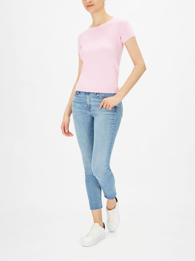 Knitted Short Sleeve Crew Top