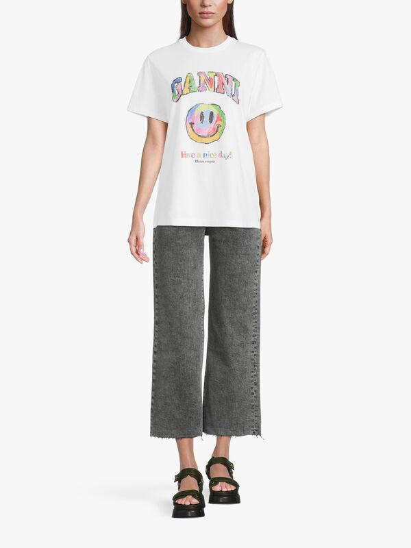 Cotton Rainbow Logo T Shirt