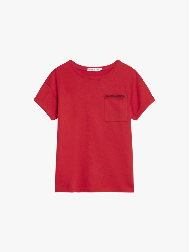 Organic Cotton Pocket Logo Top