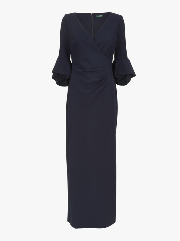 Rezana 3/4 Sleeve Evening Dress