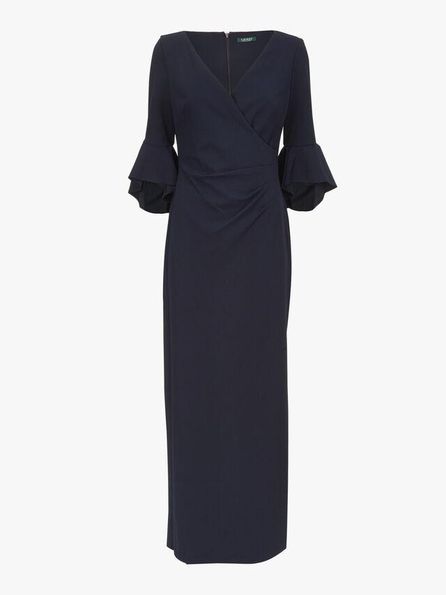 Rezana 3/4 Sleeve Evening Dress