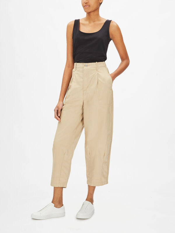 Utility Pleated Balloon Leg Trousers