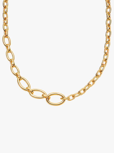 Large Graduated Oval Chain Necklace