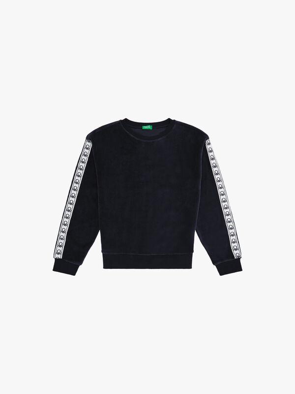 Velour Taping Sweater