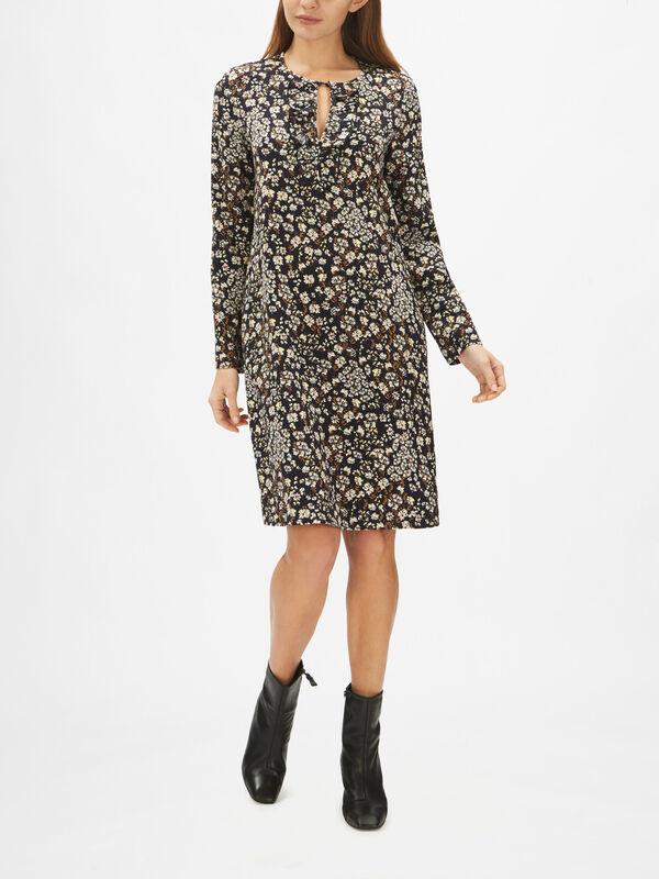 Favella Long Sleeve Printed Shift Dress