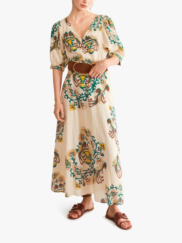 Nur Maxi Printed Dress