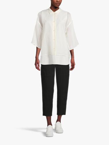 Double-Layer-Sheer-Slv-Silk-Cotton-Blend-Shirt-Una