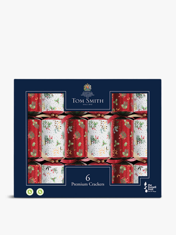 Traditional Foilage Crackers Box of 6