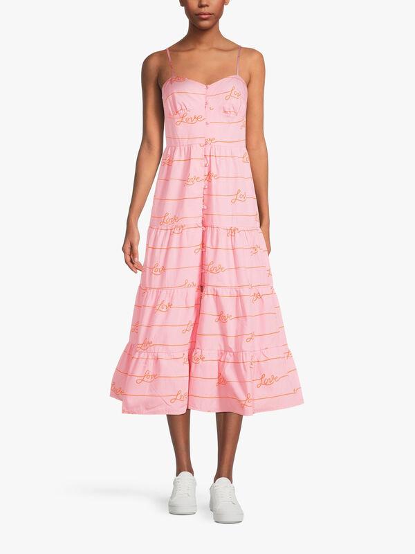 Pink Love Midi Dress