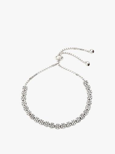 Pave Set Delicate Flower Tennis Bracelet