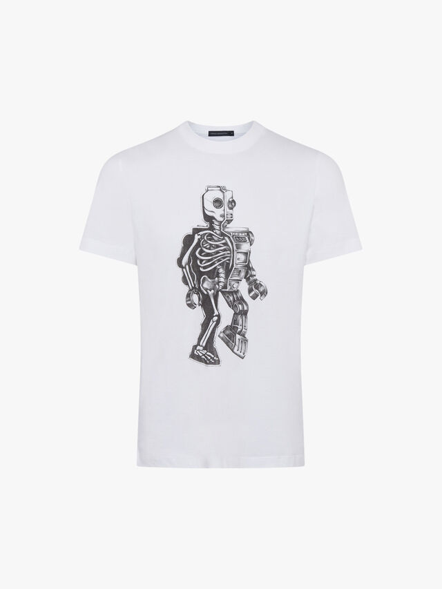Robot Skeleton T Shirt