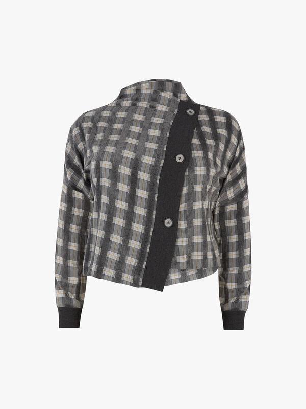 Check Assym Box Jacket