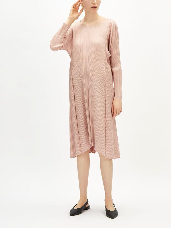Drawstring Back Long Dress